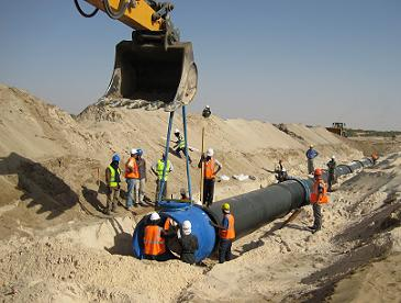 Mauritania - Supply and installation of a 1400 mm diameter ductile iron pipe over 182 km to supply drinking water to the city of Nouakchott from the Aftout Essahli river